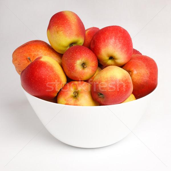 赤 リンゴ 白 ボウル 水 ストックフォト © ultrapro