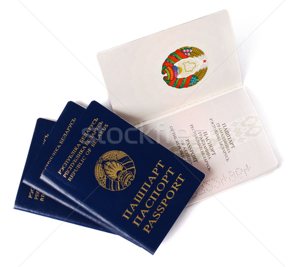 four belarusian passports Stock photo © ultrapro