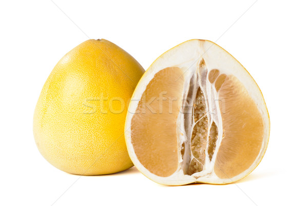 Yelow pomelo fruit on white Backgorund, Stock photo © ultrapro