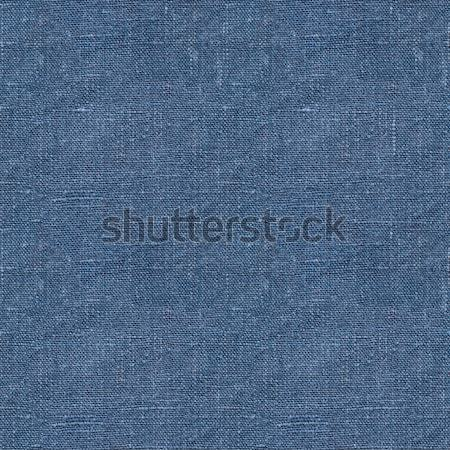 Blue linen seamless texture Stock photo © ultrapro