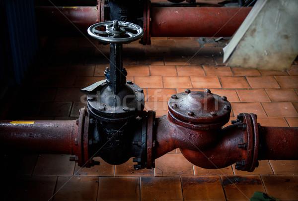 Olaj benzin cső vonal víz háttér Stock fotó © ultrapro