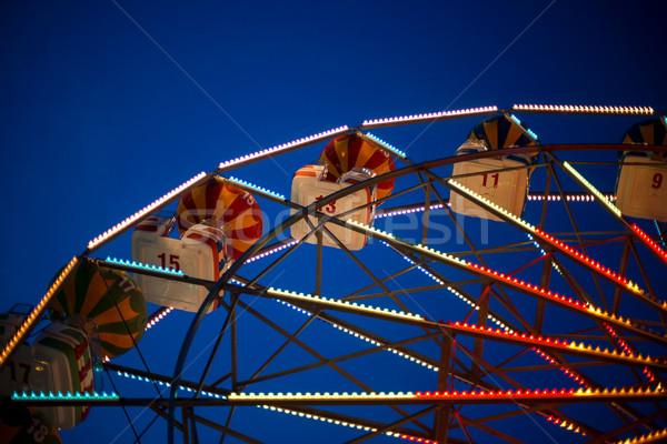 Part of the Ferris wheel at night Stock photo © ultrapro