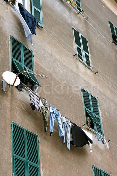 リネン 古い家 イタリア 市 ストックフォト © ultrapro
