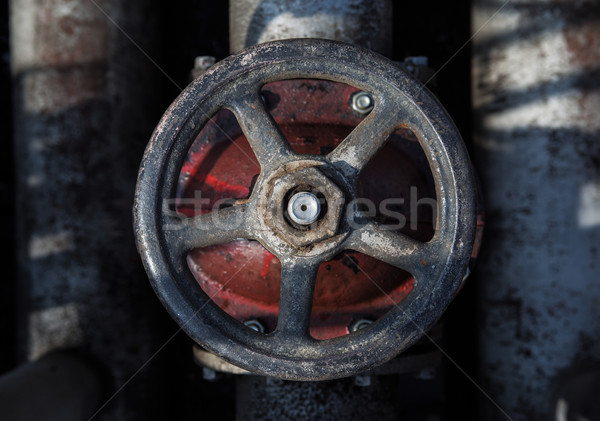 old handwheel of valve. top view Stock photo © ultrapro