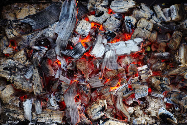 Close-up of burning charcoal Stock photo © ultrapro