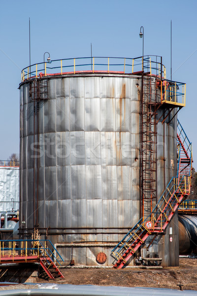 old large rusted oil tank with stairs Stock photo © ultrapro