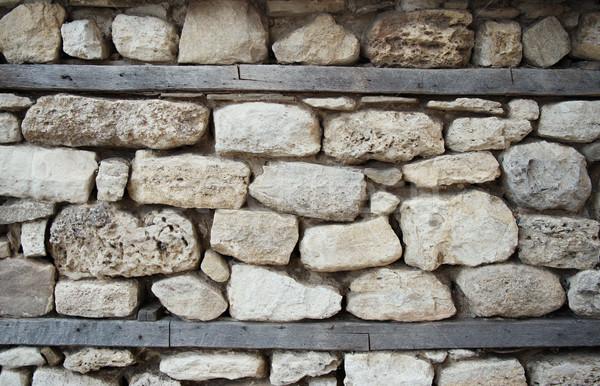 Oude stenen muur architectuur detail textuur muur Stockfoto © ultrapro