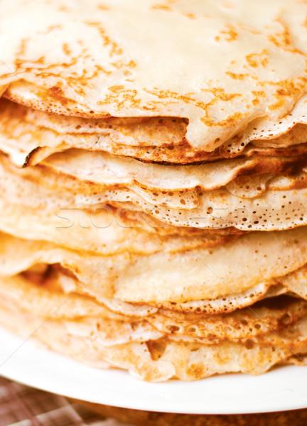Pfannkuchen gelb braun Essen Textur Gesundheit Stock foto © ultrapro