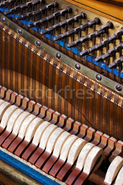 close up of old inside element piano Stock photo © ultrapro