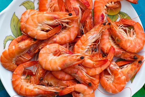 Plaat gezond eten voedsel oranje Stockfoto © ultrapro