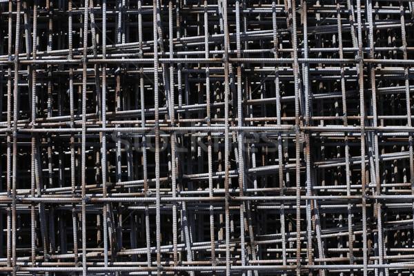 Foto stock: Padrão · topo · ver · construção