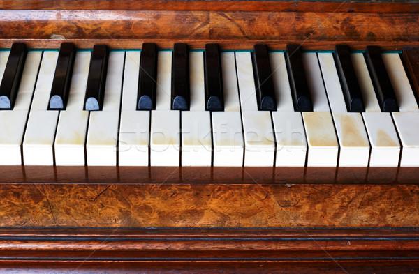 клавиши пианино старые фортепиано дизайна клавиатура металл Сток-фото © ultrapro