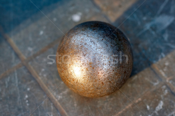 old ball for Pétanque Stock photo © ultrapro