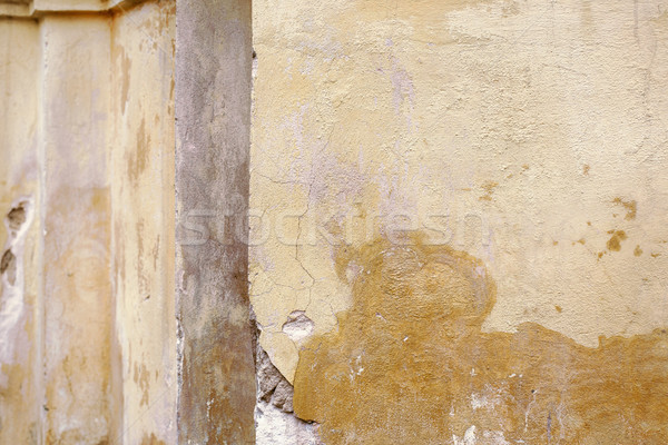 Oude muur detail gebarsten gips Stockfoto © ultrapro