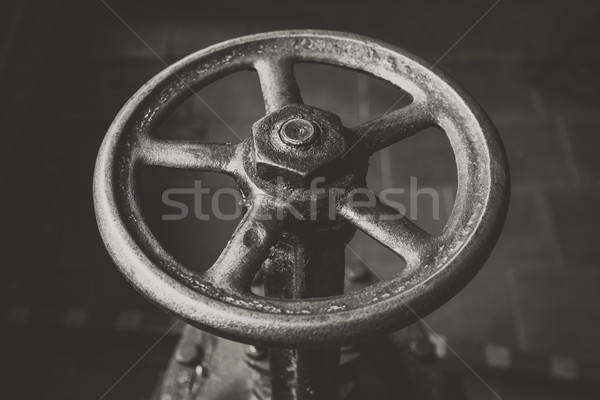 old handwheel of valve. retro style photo Stock photo © ultrapro