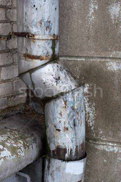 Oude roestige muur muur steen zwarte Stockfoto © ultrapro
