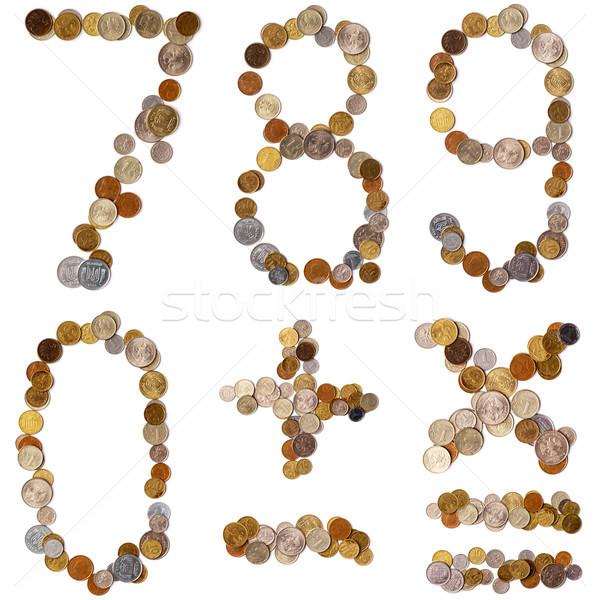 Alfabet brieven munten verschillend landen brief Stockfoto © ultrapro
