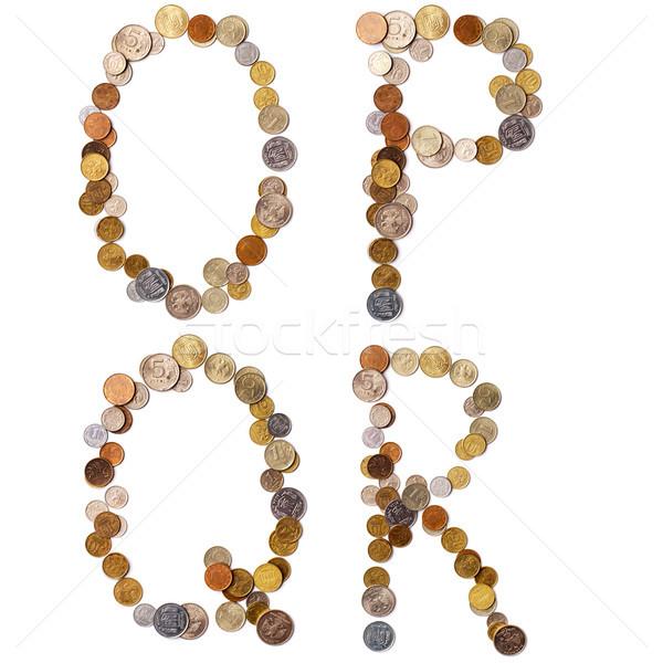 アルファベット 文字 コイン 異なる 国 手紙 ストックフォト © ultrapro
