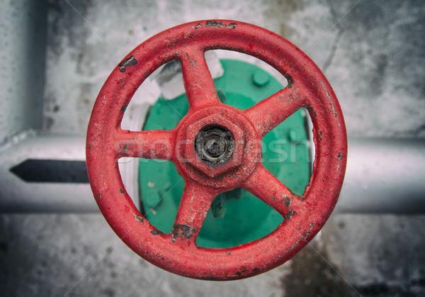 üst görmek eski valf kırmızı inşaat Stok fotoğraf © ultrapro