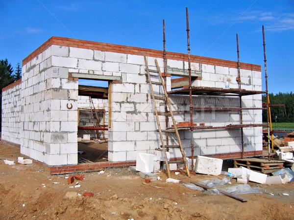 ホーム 建設 建物 白 壁 砂 ストックフォト © ultrapro