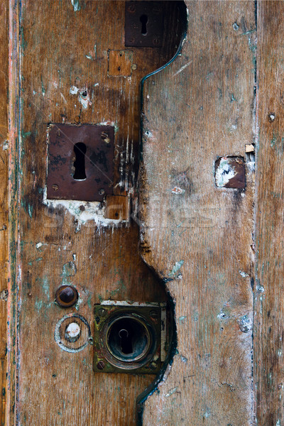 old rusty keyholes Stock photo © ultrapro