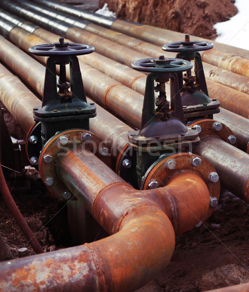 нефть газ трубы линия воды аннотация Сток-фото © ultrapro