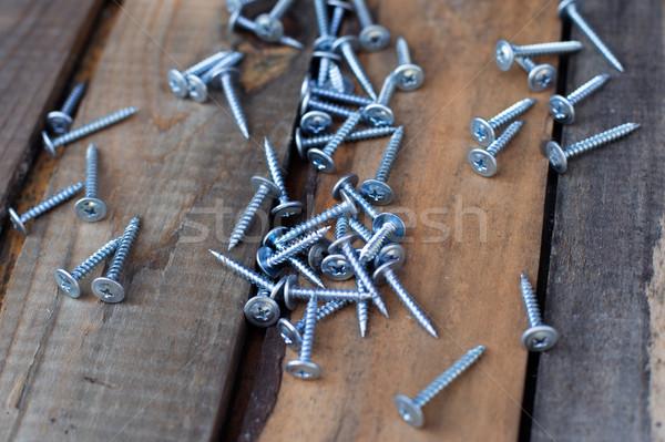 Nuovo vecchio legno texture legno lavoro Foto d'archivio © ultrapro