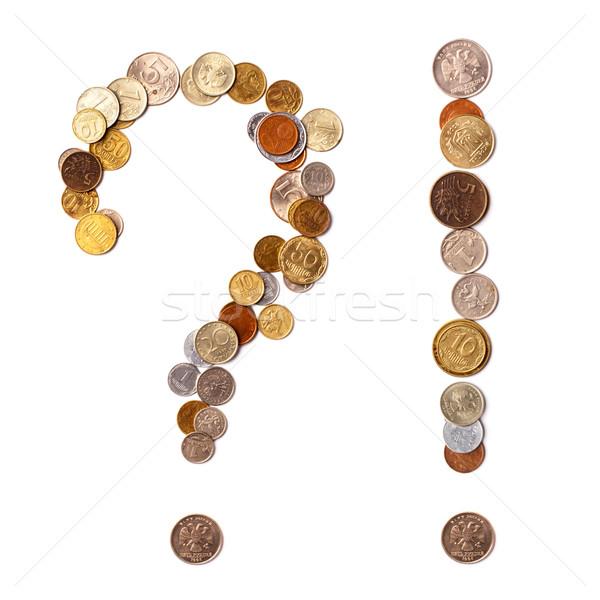 Questione monete diverso paesi bianco business Foto d'archivio © ultrapro