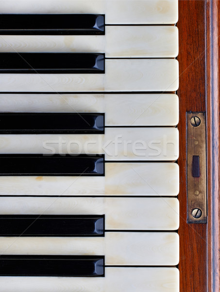 Touches de piano vieux piano skype design clavier Photo stock © ultrapro