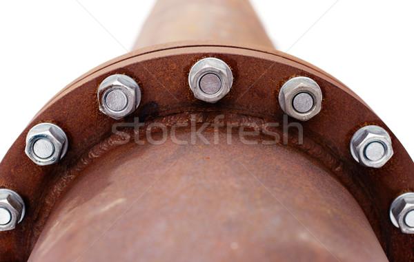 Arrugginito pipe costruzione industria olio nero Foto d'archivio © ultrapro