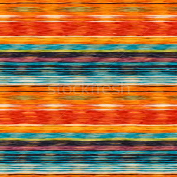 Textil részlet végtelenített textúra mexikói szín Stock fotó © ultrapro