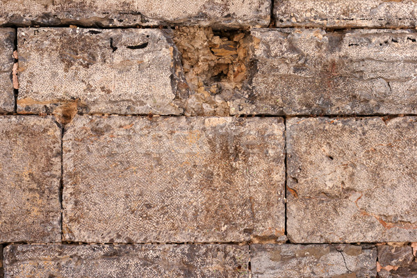 Texture of a brown stone wall Stock photo © ultrapro