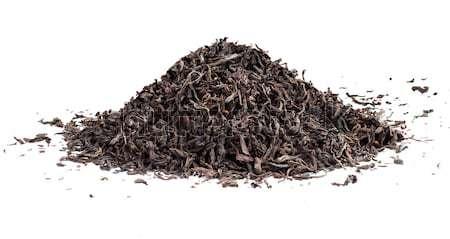 Negro té suelto secado hojas aislado Foto stock © ultrapro