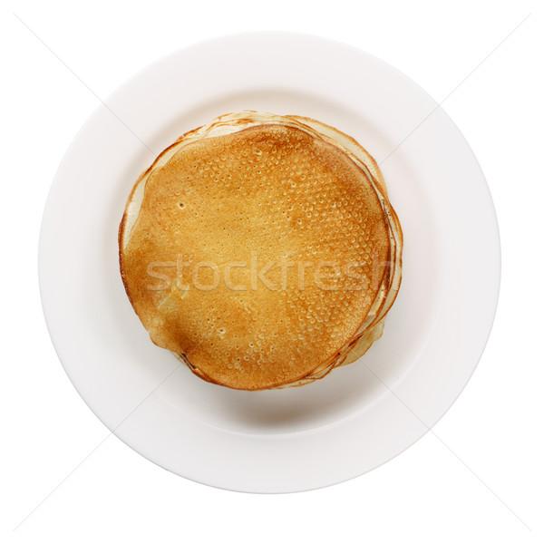 Giallo bianco piatto isolato alimentare Foto d'archivio © ultrapro