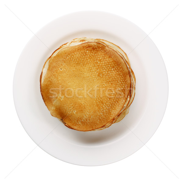 Amarelo panquecas branco prato isolado comida Foto stock © ultrapro