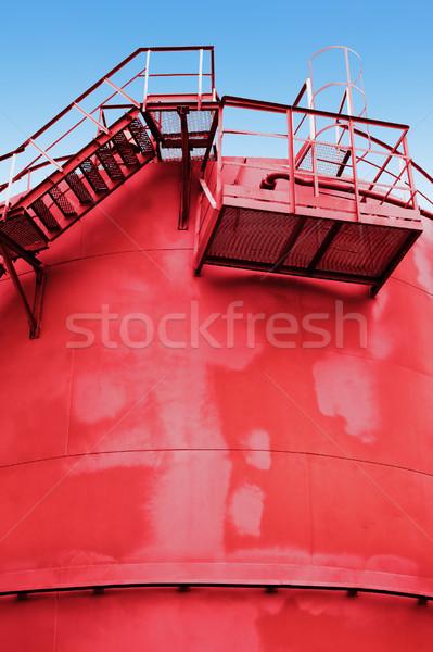 赤 燃料 タンク 階段 壁 空 ストックフォト © ultrapro