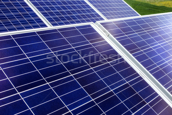 surface of the a solar panel on field Stock photo © ultrapro