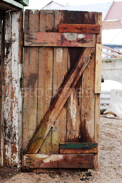 Velho porta pinho madeira Foto stock © ultrapro
