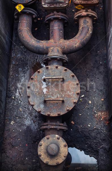 Olaj benzin cső vonal víz technológia Stock fotó © ultrapro