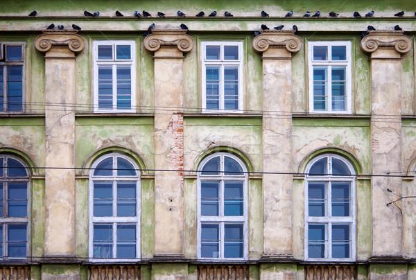 грязные стены Windows старые дома текстуры Сток-фото © ultrapro