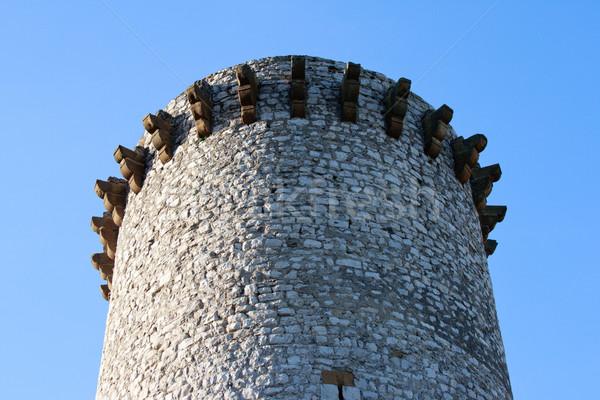 Antigo fogo torre França casa cidade Foto stock © ultrapro