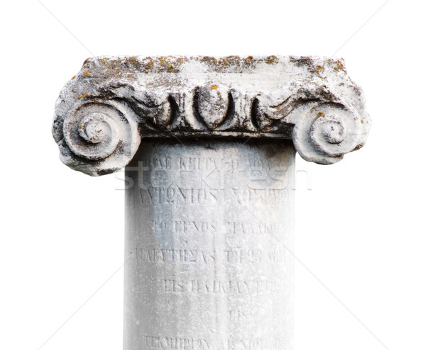 ancient stone classic column on white background Stock photo © ultrapro