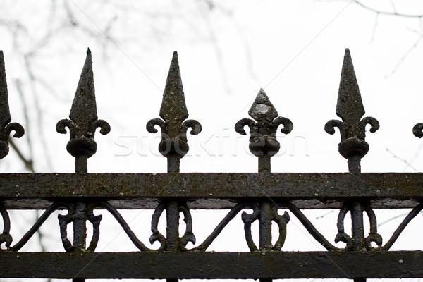 Eski moda çit parça inşaat dizayn mimari Stok fotoğraf © ultrapro