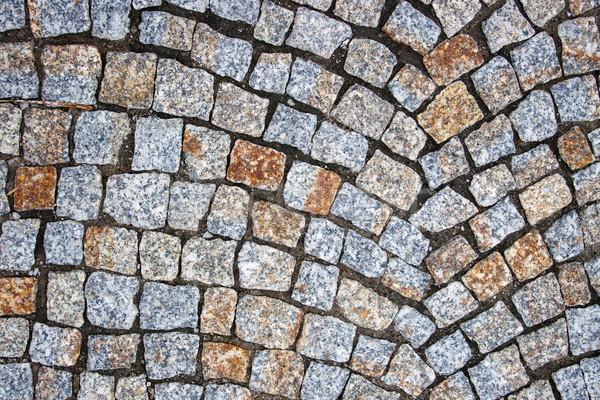 Vecchio piazza pietra strada pattern Polonia Foto d'archivio © ultrapro