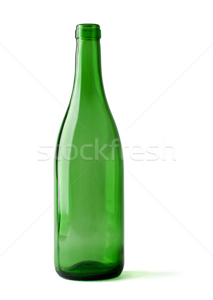 Stock photo: empty bottle of wine isolated on a white