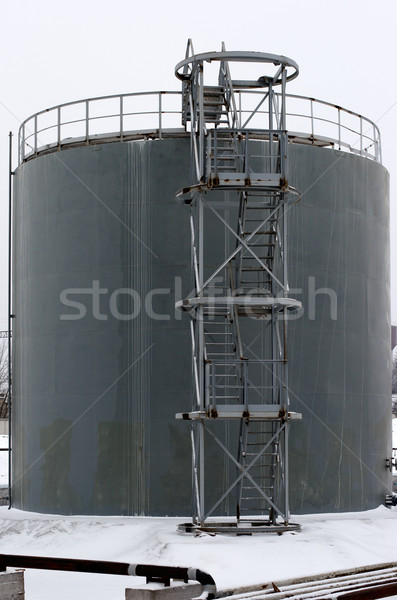 gray storage tank with stairs Stock photo © ultrapro