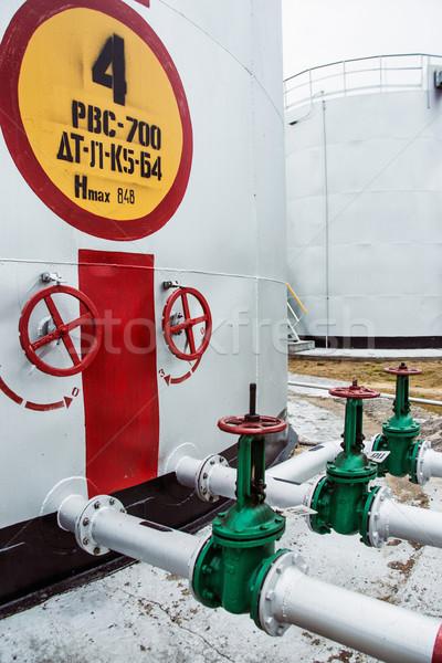 ворот хранения цистерна числа четыре воды Сток-фото © ultrapro