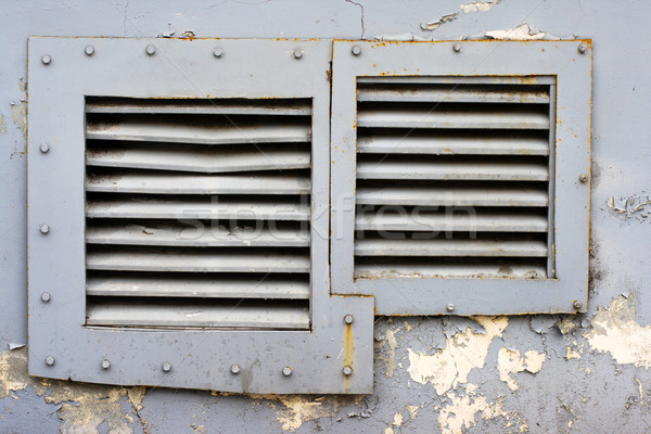 square windows with iron grating Stock photo © ultrapro