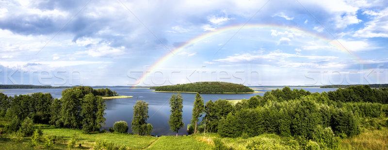 Arco iris verano lago Bielorrusia región panorámica Foto stock © ultrapro