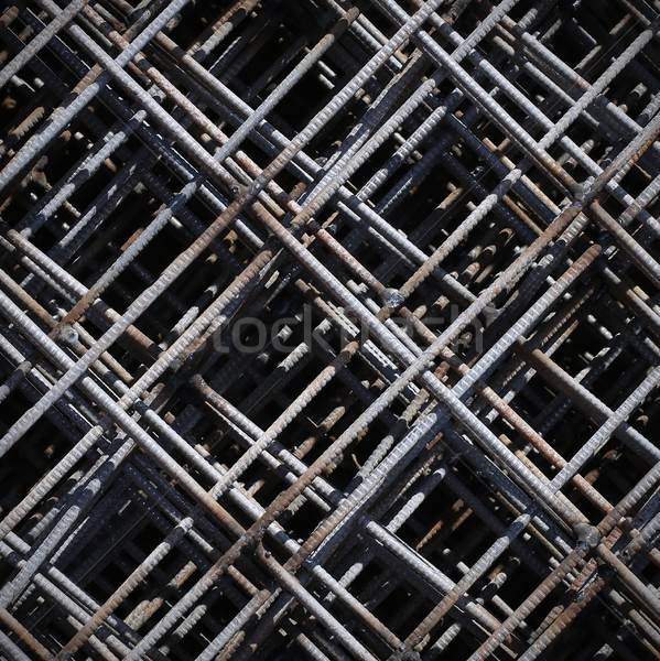 Stack of rebar grids at the construction site Stock photo © ultrapro